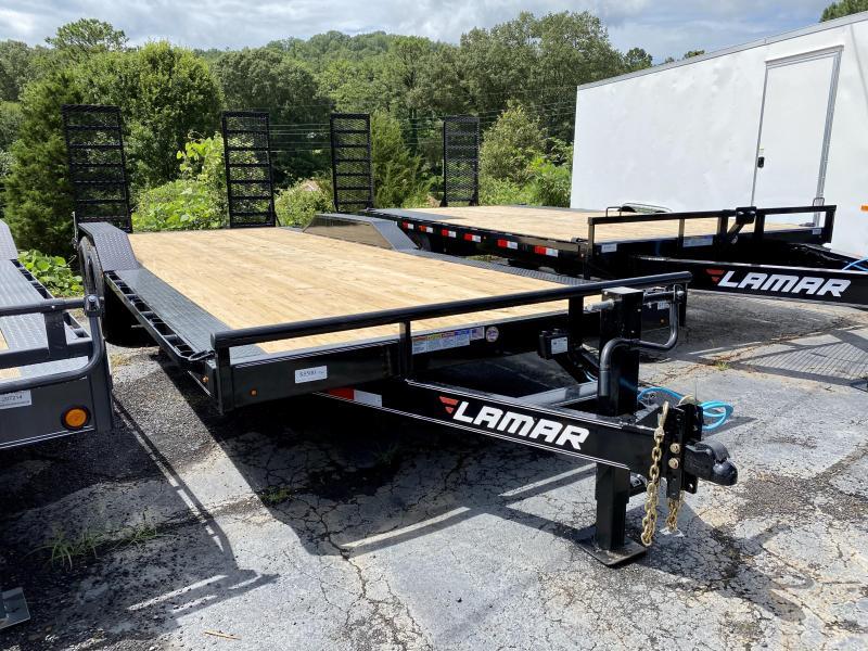 New 2020 Lamar 8.5ft x 22ft 14k Tandem Axle  Bumper Pull Car/Equipment Hauler   (Black)
