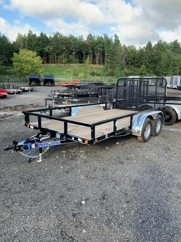New 2022 Load Trail 7ft x 14ft 7k Tandem Axle  Bumper Pull Utility w/1ft walls (Black)