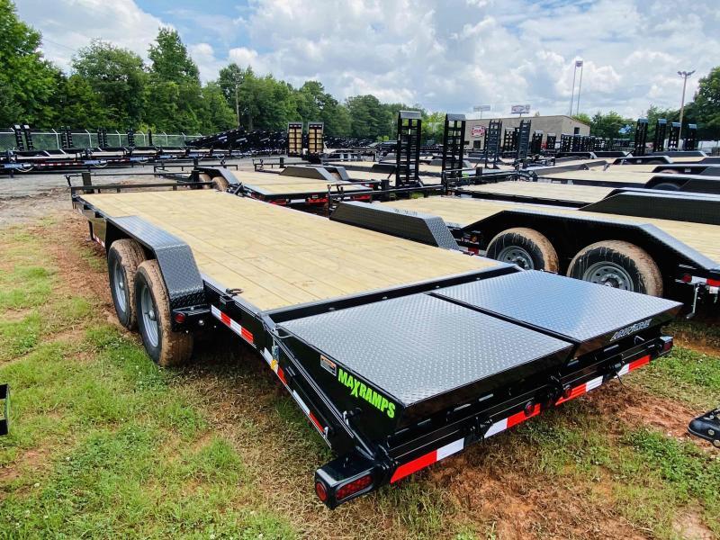 New 2022 Load Trail 7ft x 24ft 14k Tandem Axle  Bumper Pull Car/Equipment Hauler   (Black)