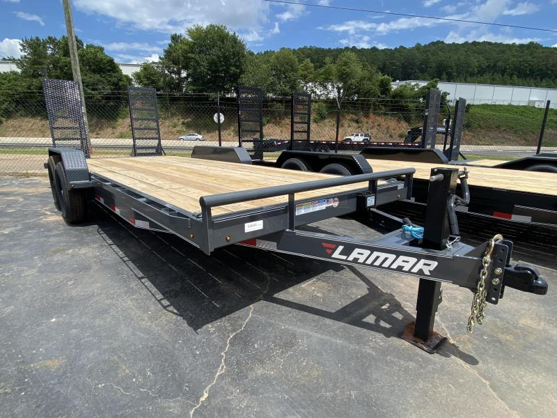 New 2020 Lamar 7ft x 20ft 14k Tandem Axle  Bumper Pull Car/Equipment Hauler   (Gray)