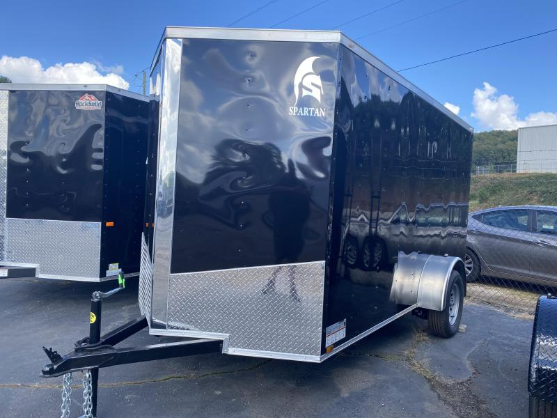 New 2021 Spartan 6ft x 12ft 3.5k Single Axle  Bumper Pull Enclosed w/6ft walls (Black)