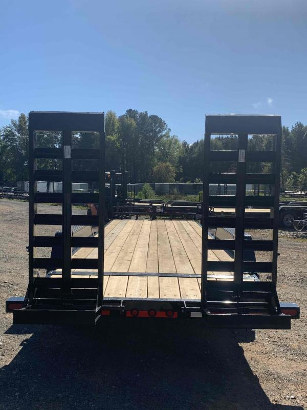 New 2022 Load Trail 7ft x 22ft 14k Tandem Axle  Bumper Pull Car/Equipment Hauler   (Black)