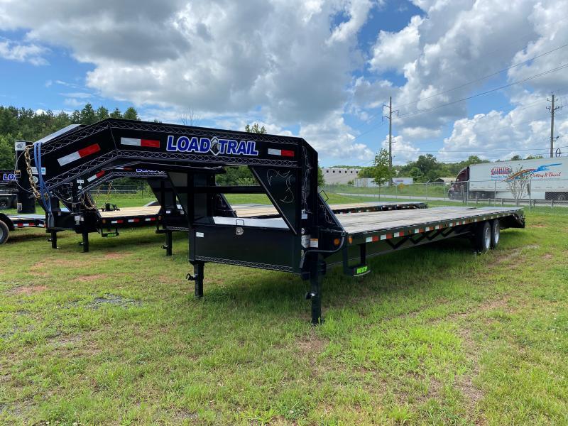 Used 2021 Load Trail 8.5ft x 35ft 14k Tandem Axle Heavy-Duty Deckover Gooseneck Flatbed   (Black)