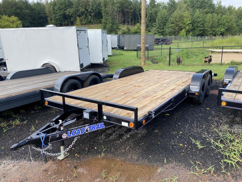 New 2022 Load Trail 7ft x 18ft 7k Tandem Axle  Bumper Pull Car/Equipment Hauler   (Black)
