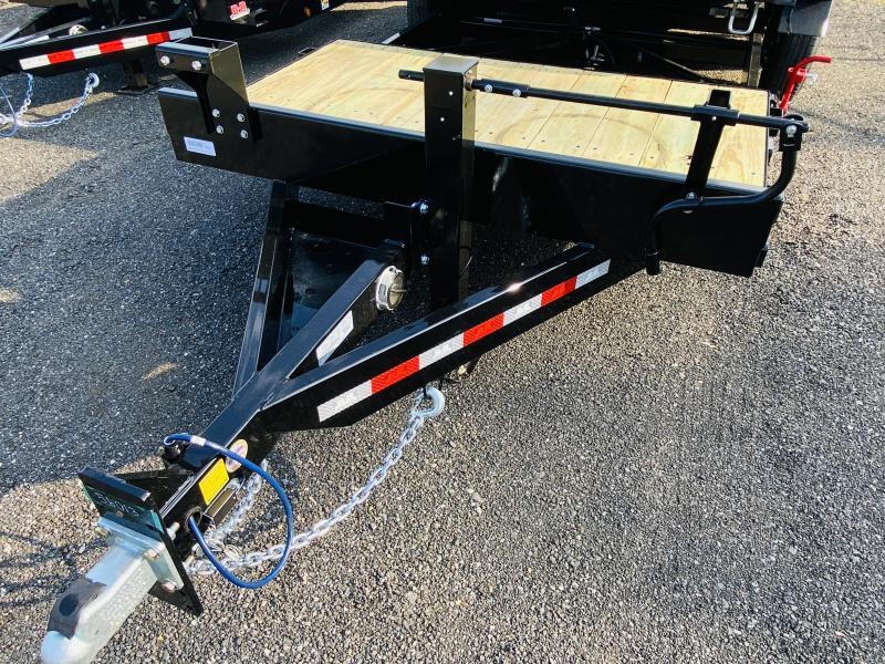 New 2021 Behnke 7ft x 20ft 16k Tandem Axle Heavy Duty Bumper Pull Tilt Deck   (Black)