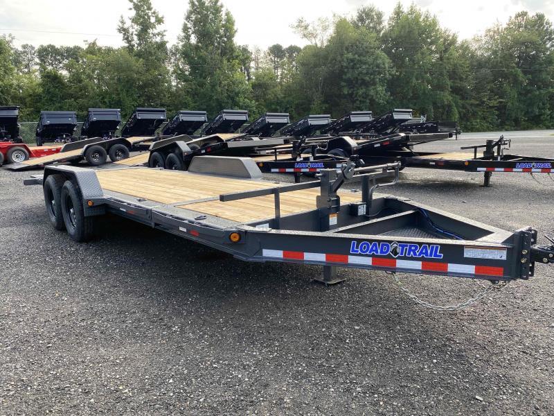 New 2022 Load Trail 7ft x 20ft 14k Tandem Axle  Bumper Pull Tilt Deck   (Gray)