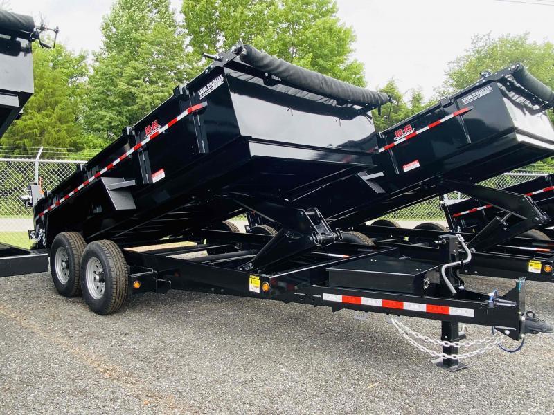 New 2021 Behnke 7ft x 14ft 14k Tandem Axle  Bumper Pull Dump w/2ft walls (Black)