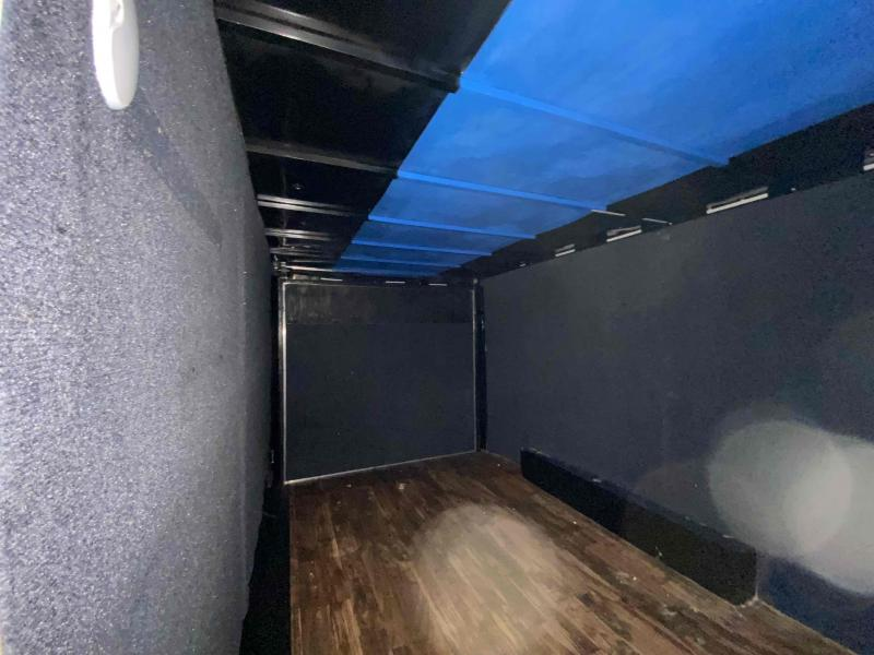 Used 2021 Covered Wagon 7ft x 16ft 7k Tandem Axle  Bumper Pull Enclosed w/6.5ft walls (Silver Frost)