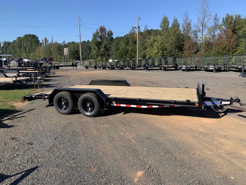 New 2022 Iron Bull 7ft x 20ft 14k Tandem Axle  Bumper Pull Car/Equipment Hauler   (Black)