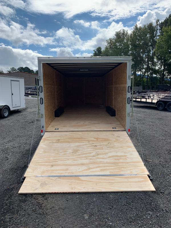 New 2022 Rock Solid 8.5ft x 24ft 10k Tandem Axle  Bumper Pull Enclosed w/6ft walls (Dove Gray)