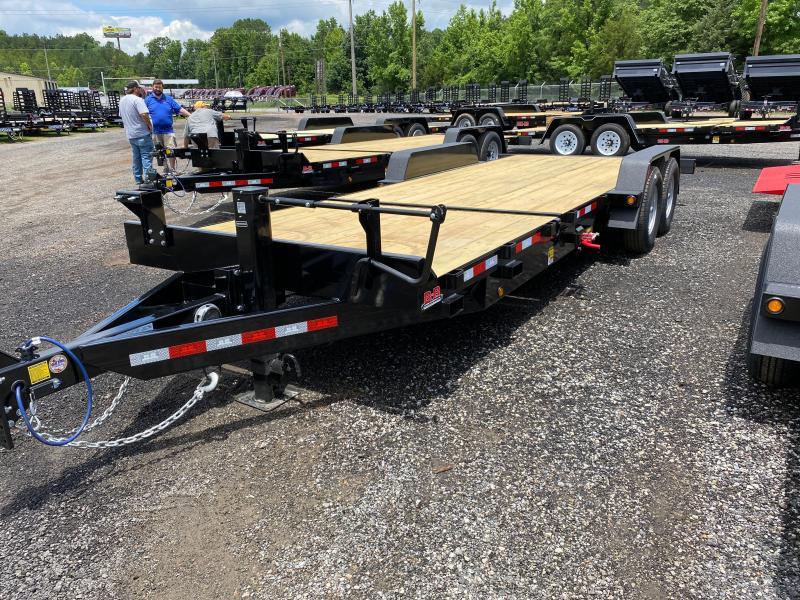 New 2021 Behnke 7ft x 22ft 14k Tandem Axle Extreme-Duty Bumper Pull Tilt Deck   (Black)