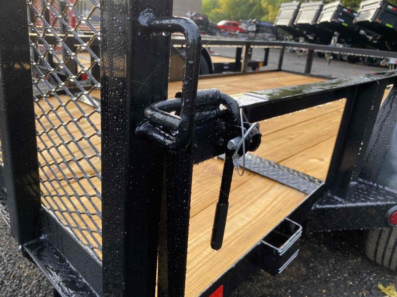New 2021 East Texas 5ft x 10ft 3.5k Single Axle  Bumper Pull Utility w/1ft walls (Black)