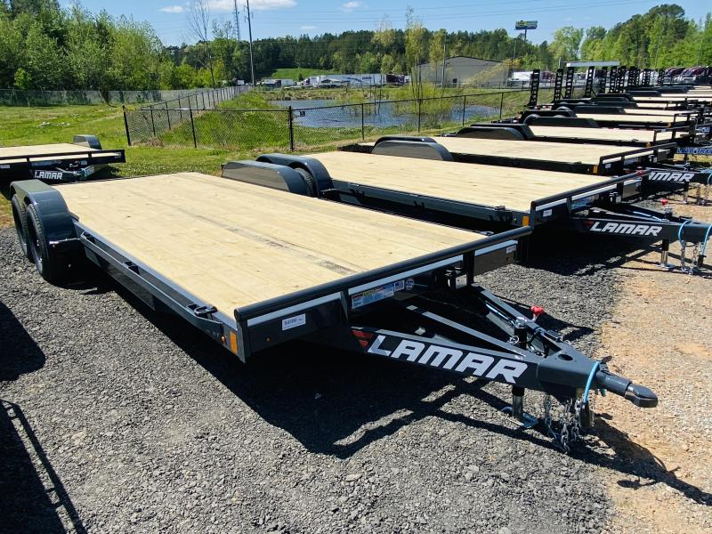 New 2021 Lamar 7ft x 20ft 7k Tandem Axle  Bumper Pull Car/Equipment Hauler   (Lamar Gray)