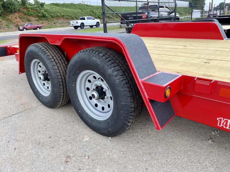 New 2021 B-B 7ft x 20ft 14k Tandem Axle Bumper Pull Tilt Deck (Red)