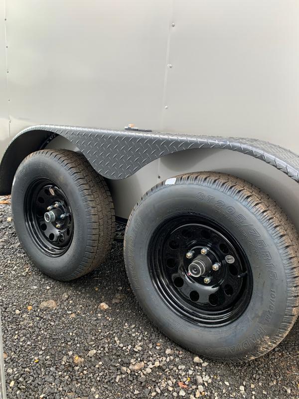 New 2022 Spartan 7ft x 14ft 7k Tandem Axle  Bumper Pull Enclosed w/7ft walls (Pewter w/BO)