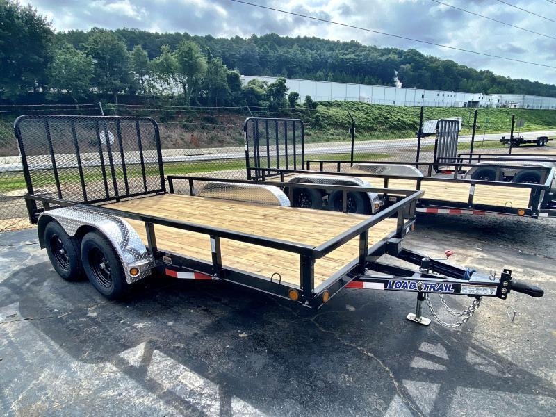 New 2021 Load Trail 7ft x 14ft 7k Tandem Axle  Bumper Pull Utility   (Black)