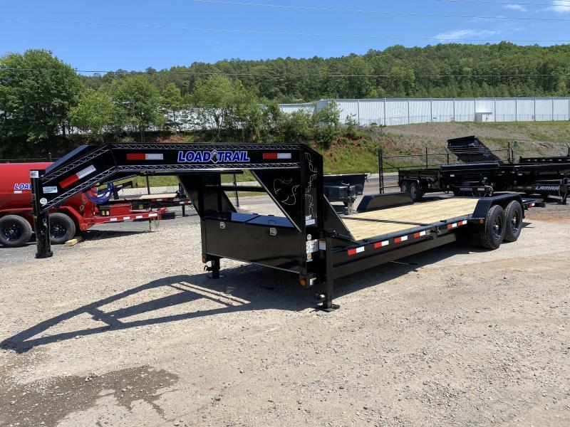 New 2020 Load Trail 7ft x 24ft 14k Tandem Axle  Gooseneck Tilt Deck   (Black)