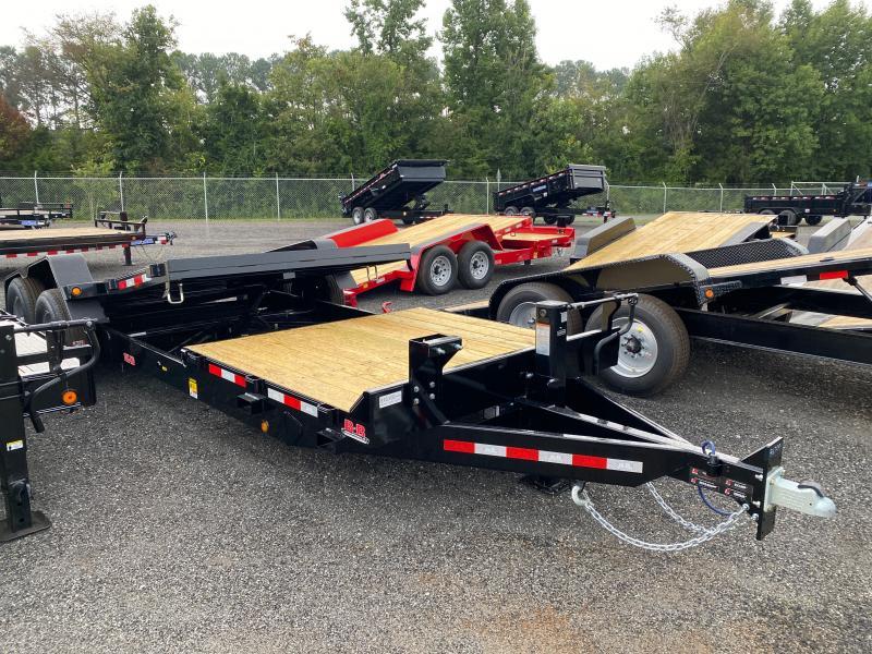 New 2021 Behnke 7ft x 22ft 14k Tandem Axle  Bumper Pull Tilt Deck   (Black)