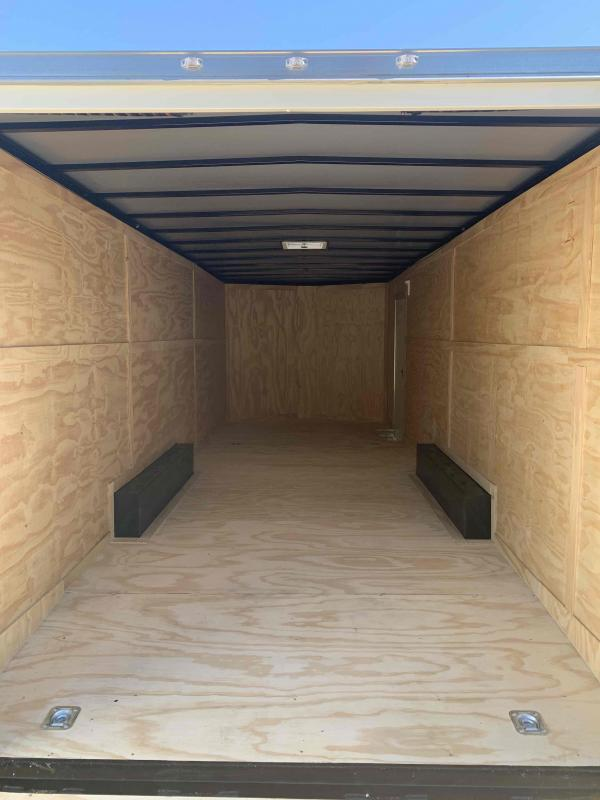 New 2022 Spartan 8.5ft x 24ft 10k Tandem Axle  Bumper Pull Enclosed w/6.5ft walls (White)