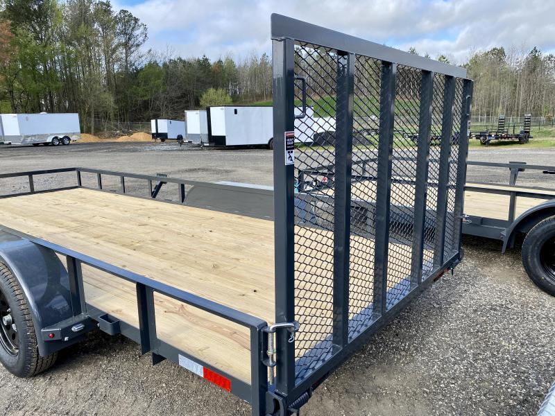 New 2021 Lamar 7ft x 14ft 7k Tandem Axle  Bumper Pull Utility   (Lamar Gray)