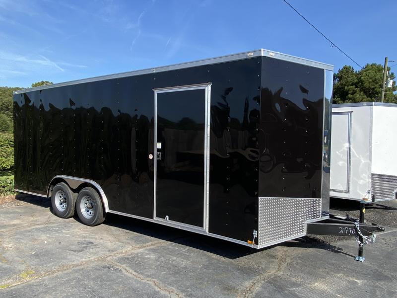 New 2021 Spartan 8.5ft x 20ft 7k Tandem Axle  Bumper Pull Enclosed w/6.5ft walls (Black)