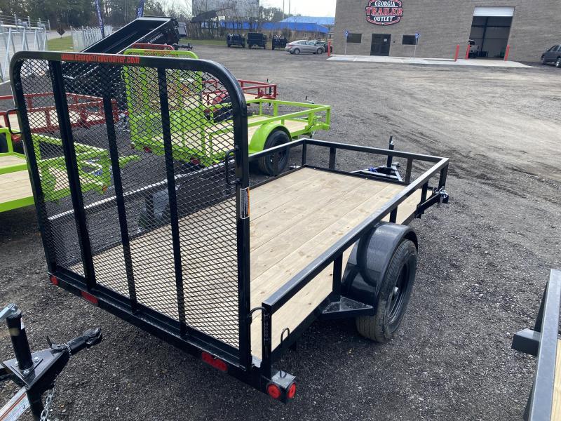 New 2021 Load Trail 5ft x 10ft 3.5k Single Axle  Bumper Pull Utility   (Black)