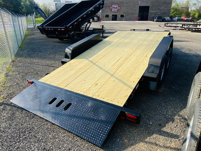 New 2021 Behnke 7ft x 20ft 14k Tandem Axle Heavy Duty Bumper Pull Tilt Deck   (Black)