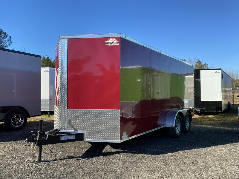 New 2021 Rock Solid 7ft x 16ft 7k Tandem Axle  Bumper Pull Enclosed w/6ft walls (Brandywine)