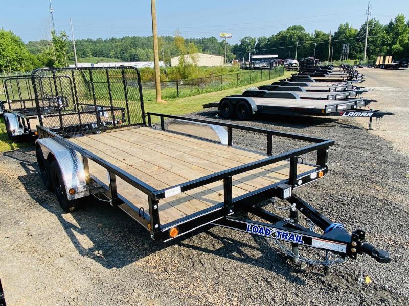 New 2021 Load Trail 7ft x 14ft 7k Tandem Axle  Bumper Pull Utility w/1ft walls (Black)