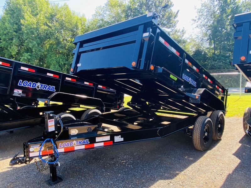 New 2021 Load Trail 7ft x 14ft 14k Tandem Axle  Bumper Pull Dump w/2ft walls (Black)