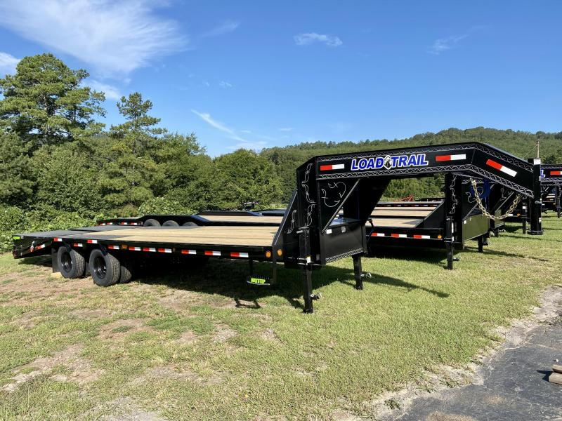 New 2021 Load Trail 8.5ft x 25ft 22k Tandem Axle Low-Pro Deckover Gooseneck Flatbed   (Black)