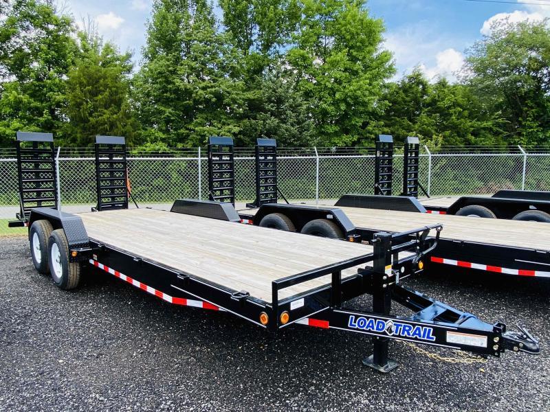 New 2021 Load Trail 7ft x 22ft 14k Tandem Axle  Bumper Pull Car/Equipment Hauler   (Black)