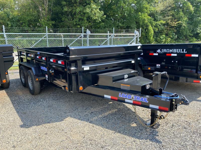 New 2022 Load Trail 7ft x 14ft 14k Tandem Axle  Bumper Pull Dump w/2ft walls (Black)
