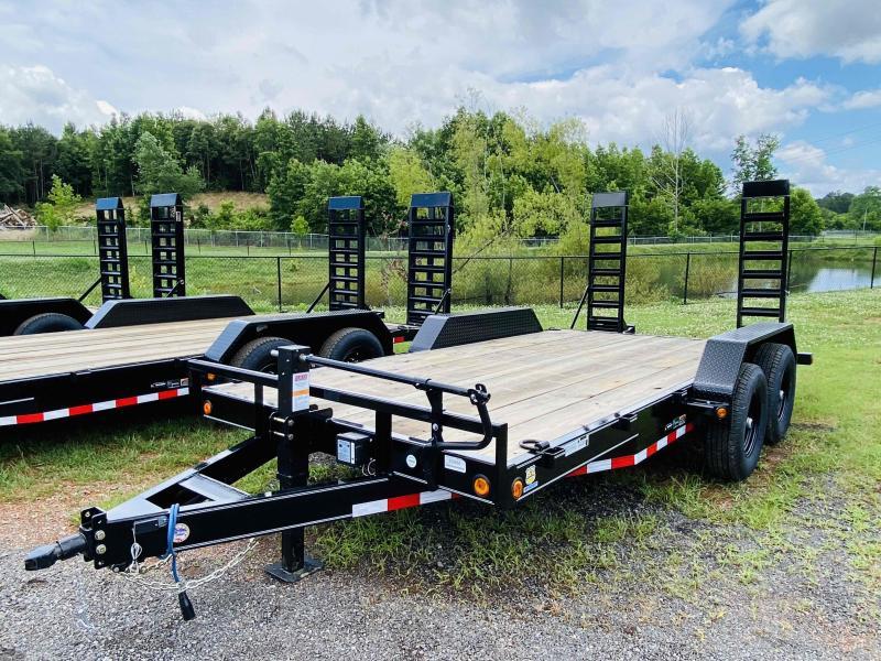 New 2021 Load Trail 7ft x 16ft 14k Tandem Axle  Bumper Pull Car/Equipment Hauler   (Black)