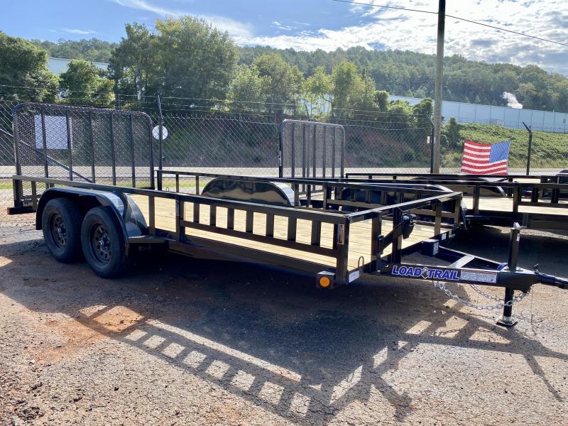 New 2021 Load Trail 7ft x 16ft 7k Tandem Axle  Bumper Pull Utility   (Black)