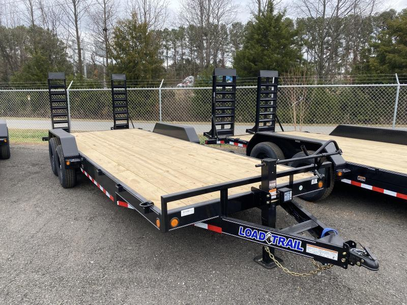 New 2021 Load Trail 7ft x 22ft 14k Tandem Axle  Bumper Pull Car/Equipment Hauler   (Black)