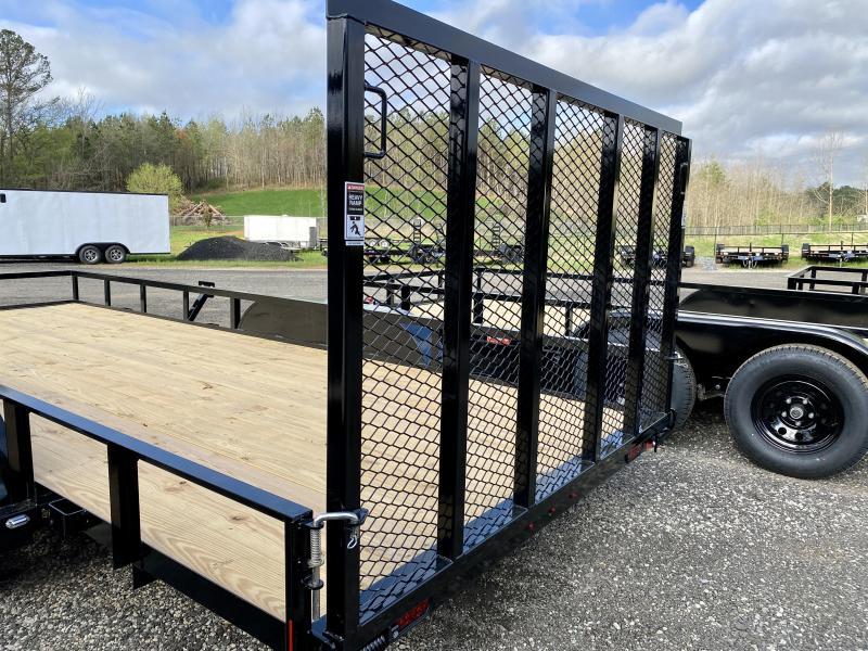 New 2021 Lamar 7ft x 18ft 7k Tandem Axle  Bumper Pull Utility   (Black)