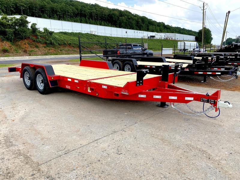 New 2021 B-B 7ft x 20ft 14k Tandem Axle Bumper Pull Tilt Deck (Red)