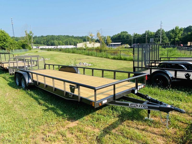 New 2021 East Texas 7ft x 24ft 7k Tandem Axle  Bumper Pull Utility w/1ft walls (Charcoal)