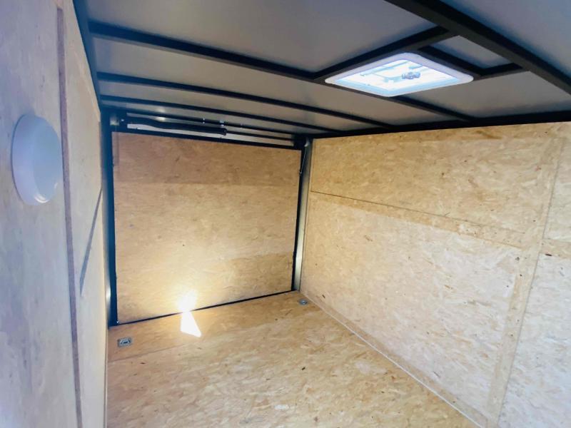 New 2021 Rock Solid 7ft x 14ft 7k Tandem Axle  Bumper Pull Enclosed w/6ft walls (Bone White)