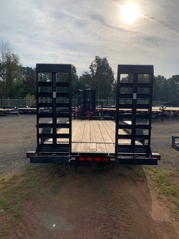 New 2022 Load Trail 7ft x 18ft 14k Tandem Axle  Bumper Pull Car/Equipment Hauler   (Black)