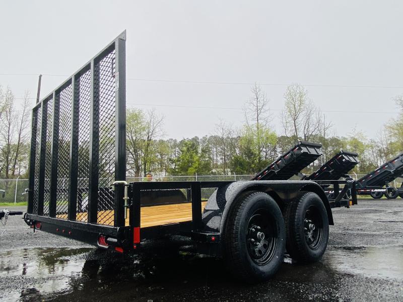 New 2021 Lamar 7ft x 12ft 7k Tandem Axle  Bumper Pull Utility   (Black)