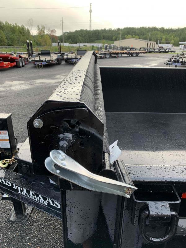 New 2021 East Texas 7ft x 14ft 14k Tandem Axle  Bumper Pull Dump w/2ft walls (Black)