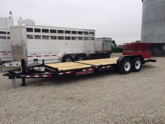 2020 Trailerman Trailers Inc. 6 + 16 Cushion Tilt Equipment Trailer