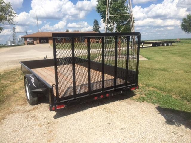 "2021 Trailerman Trailers Inc.Utility 84"" X 12' Solid Side"