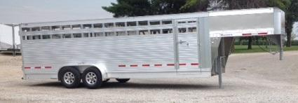 2021 Eby Maverick 7 X 24 Livestock Trailer