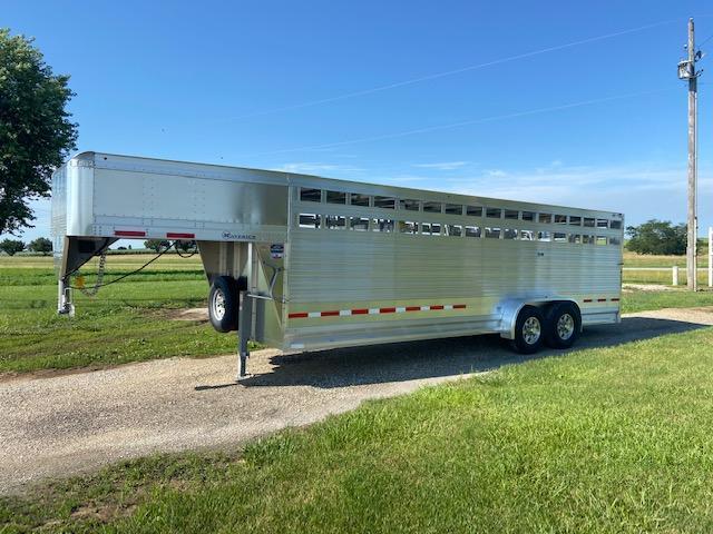 2022 Eby Maverick 7 X 24 Livestock Trailer