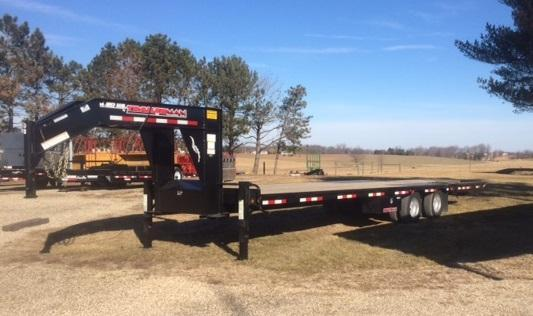 2021 Trailerman Trailers Inc. Hydraulic Dove Equipment Trailer