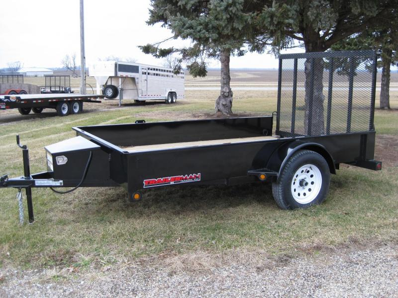 2021 Trailerman Trailers Inc. Solid Side 76 X 10 Utility Trailer
