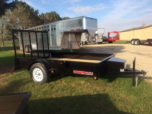 2021 Trailerman Trailers Inc. Solid Side 77 X 10 Utility Trailer